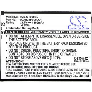 Аккумулятор для Alcatel (CAB31P0000C1, BY71) - Cameron Sino | Фото 3