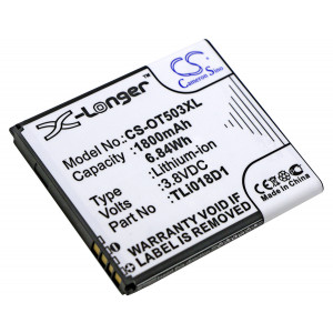 Аккумулятор для Alcatel (TLi018D1) - Cameron Sino | Фото 1