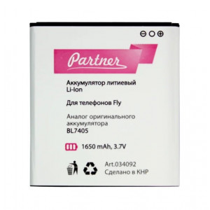 Аккумулятор для телефона Highscreen Zera F (rev.S) - Partner | Фото 1