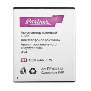 Аккумулятор для телефона Micromax A94 Canvas Mad - Partner | Фото 1