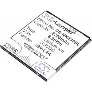 Аккумулятор для телефона Nokia Lumia 830 - Cameron Sino | Фото 1