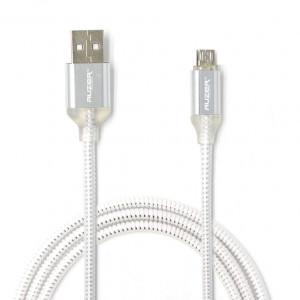 Дата-кабель для телефона Apple iPhone XS (2.4A - Белый с подсветкой) - Auzer | Фото 1