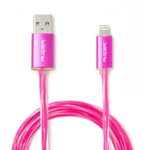 Дата-кабель для планшета Apple iPad mini 4 (2.4A - Розовый с подсветкой) - Auzer | Фото 1
