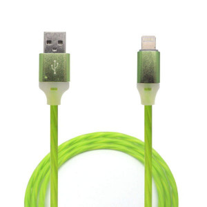 Дата-кабель для планшета Apple iPad Air 3 (2.4A - Зеленый с подсветкой) - Auzer | Фото 1