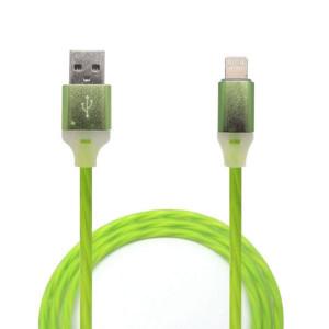 Дата-кабель для планшета Apple iPad mini 4 (2.4A - Зеленый с подсветкой) - Auzer | Фото 1