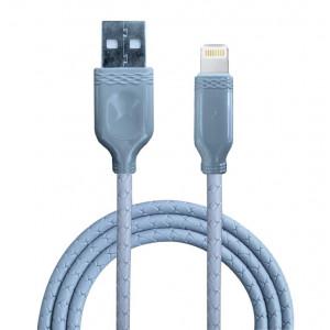 Дата-кабель для телефона Apple iPhone 6S Plus (2A - Grey) - Auzer | Фото 1