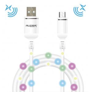 Дата-кабель для планшета Apple iPad Air 3 (2A - White с подсветкой и микрофоном) - Auzer | Фото 1