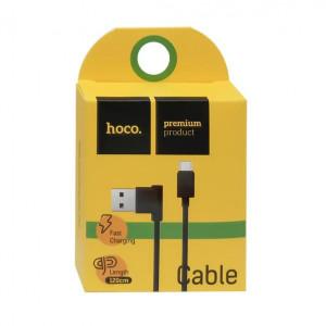 Дата-кабель USB - Micro USB (2.1A, угловой) - HOCO | Фото 2