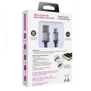 Дата-кабель USB - Micro USB (2.4A, двухсторонний) - Partner | Фото 3
