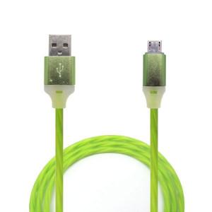 Дата-кабель USB - Micro USB (Зеленый с подсветкой) - Auzer | Фото 1