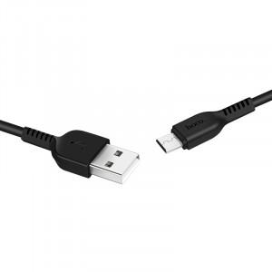 Дата-кабель USB - Micro USB HOCO X13 (2.4A, Черный) | Фото 2