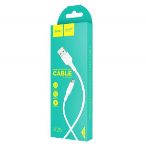 Дата-кабель USB - Micro USB HOCO X25 (2A, Белый) | Фото 3