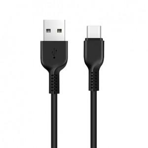 Дата-кабель USB - Type C HOCO X13 (3A, Черный)   Фото 1