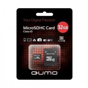 Карта памяти MicroSDHC Class 10 UHS-I 32GB - Qumo | Фото 1