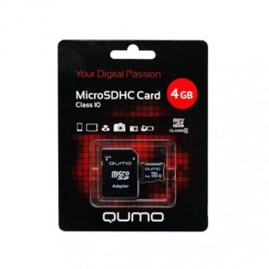 Карта памяти MicroSDHC Class 10 4GB - Qumo | Фото 1