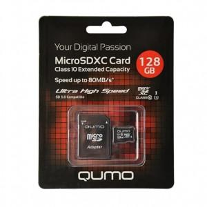 Карта памяти MicroSDXC Class 10 UHS Class 1 128GB - Qumo | Фото 2