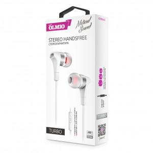 Наушники внутриканальные (с микрофоном) Olmio Turbo - White | Фото 2