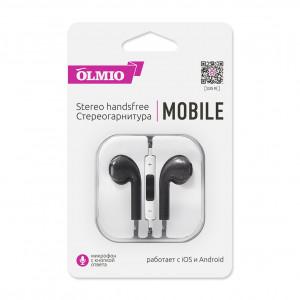 Наушники внутриканальные (с микрофоном) Olmio Mobile - Black | Фото 1