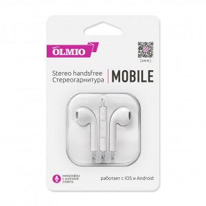 Наушники внутриканальные (с микрофоном) Olmio Mobile - White | Фото 1