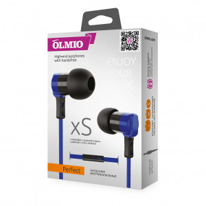 Наушники внутриканальные (с микрофоном) Olmio Perfect - Blue | Фото 2