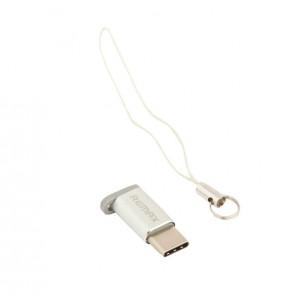 Переходник (Адаптер) Micro USB - Type C (серебристый) RA-USB1 - Remax | Фото 1
