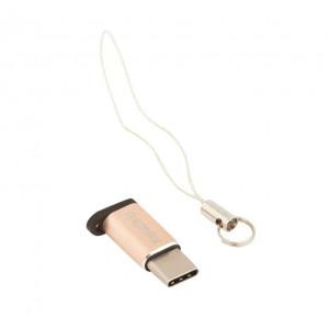 Переходник (Адаптер) Micro USB - Type C (золотистый) RA-USB1 - Remax | Фото 1