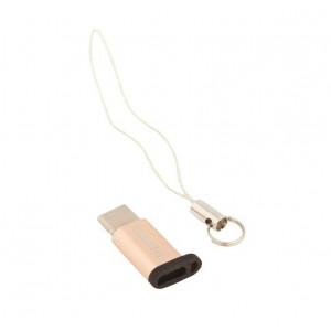 Переходник (Адаптер) Micro USB - Type C (золотистый) RA-USB1 - Remax | Фото 2