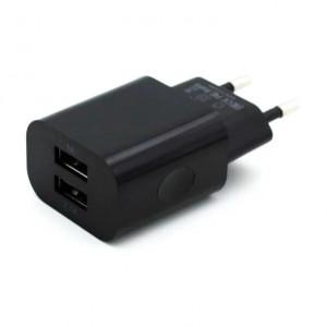 Сетевая зарядка универсальная с 2-мя USB выходами (2.1A) Black - BoraSCO | Фото 1