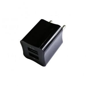 Сетевая зарядка универсальная с 2-мя USB выходами (2A) Black - Auzer | Фото 1