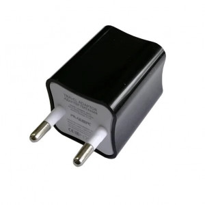 Сетевая зарядка универсальная с 2-мя USB выходами (2A) Black - Auzer | Фото 2
