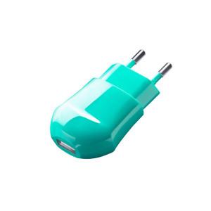 Сетевая зарядка универсальная с USB выходом (1A) Green - Deppa | Фото 1