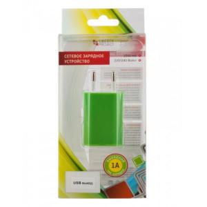 Сетевая зарядка универсальная с USB выходом (1A) Green - LP | Фото 2