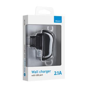 Сетевая зарядка универсальная с USB выходом (2.1A) Black - Deppa | Фото 2