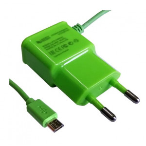 Сетевое зарядное устройство Micro USB - 1A - Green - LP | Фото 1