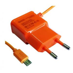 Зарядка сетевая для телефона Samsung C3520 (1A - Orange) - LP | Фото 1