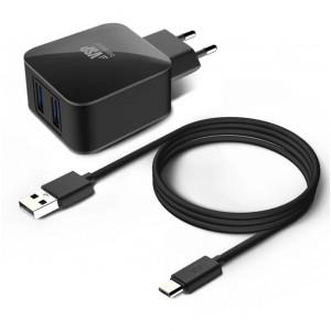 Сетевое зарядное устройство Micro USB - 2.1A - Black - BoraSCO | Фото 1