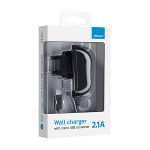 Зарядка сетевая для телефона Sony Ericsson Vivaz (U5i) (2.1A - Black) - Deppa | Фото 2