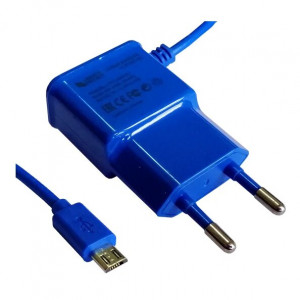 Зарядка сетевая для телефона BQ Aquaris E5s (2.1A - Blue) - LP | Фото 1