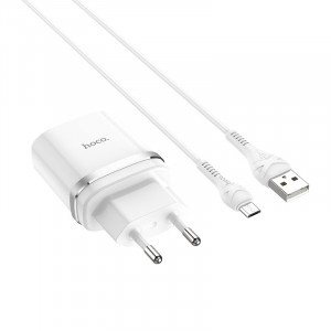 Сетевое зарядное устройство Micro USB - HOCO Smart QC3.0 Charger (Quick Charge 3.0) Белое | Фото 1