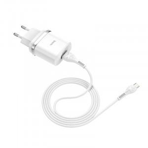 Сетевое зарядное устройство Micro USB - HOCO Smart QC3.0 Charger (Quick Charge 3.0) Белое | Фото 2
