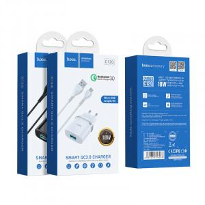 Сетевое зарядное устройство Micro USB - HOCO Smart QC3.0 Charger (Quick Charge 3.0) Черное | Фото 2