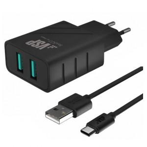 Зарядка сетевая для телефона Asus Zenfone 3 Ultra ZU680KL (2.1A - Black) - BoraSCO | Фото 1