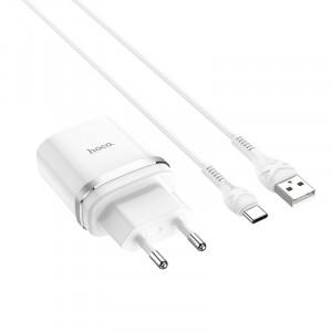Сетевое зарядное устройство Type C - HOCO Smart QC3.0 Charger (Quick Charge 3.0) Белое | Фото 1