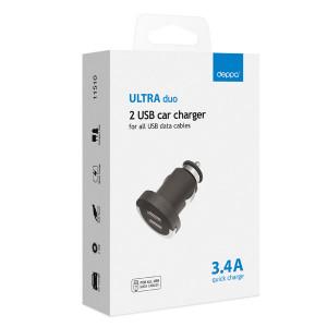 Универсальная автомобильная зарядка с 2-мя USB выходами (3.4А) Black - Deppa | Фото 2