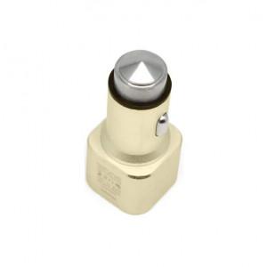 Универсальная автомобильная зарядка с 2-мя USB выходами Auzer ACC2  (2.1A) - Gold | Фото 2