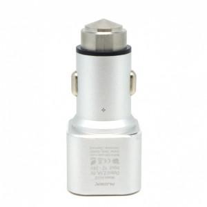 Универсальная автомобильная зарядка с 2-мя USB выходами Auzer ACC2  (2.1A) - Silver | Фото 3