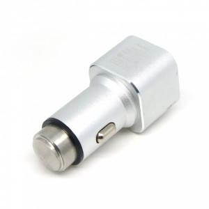 Универсальная автомобильная зарядка с 2-мя USB выходами Auzer ACC2  (2.1A) - Silver | Фото 4