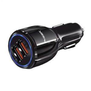Универсальная автомобильная зарядка с 2-мя USB выходами Auzer ACC4  (3.1A - Quick Charge 3.0) - Black | Фото 2