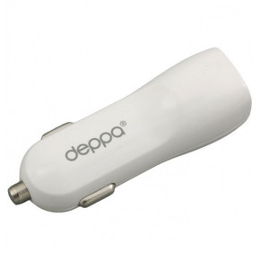 Универсальная автомобильная зарядка с 3-мя USB выходами (3.1А) White - Deppa | Фото 2