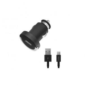 Универсальная автомобильная зарядка с USB выходом Quick Charge 2.0 Black - Deppa | Фото 1